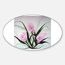 Unique Calla lily Sticker (Oval)