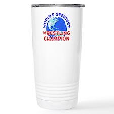 Cute Sports wrestling Travel Mug