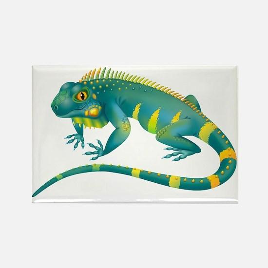 Iguana Rectangle Magnet