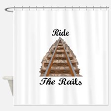 Ride The Rails Shower Curtain