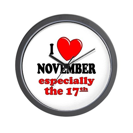 November 17th Wall Clock