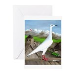 Polish Srebrniak Pigeon Greeting Cards (Pk of 10)
