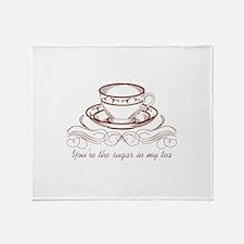 Sugar In Tea Throw Blanket