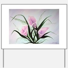 calla lily bouquet Yard Sign