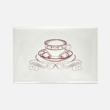 Tea Cup Redword Magnets