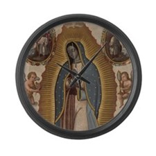 Virgin of Guadalupe. Large Wall Clock