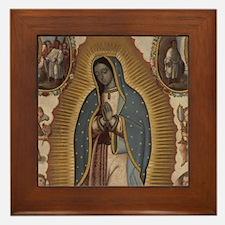 Virgin of Guadalupe. Framed Tile