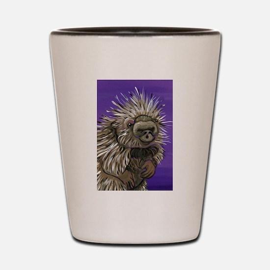 Purple Porcupine Shot Glass