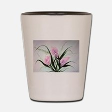 calla lily bouquet Shot Glass