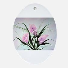 calla lily bouquet Oval Ornament