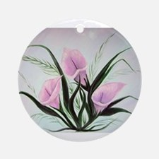 calla lily bouquet Round Ornament