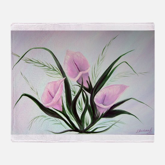 calla lily bouquet Throw Blanket