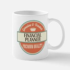 financial planner vintage logo Mug
