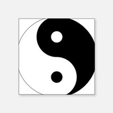 "Unique Ying yang Square Sticker 3"" x 3"""