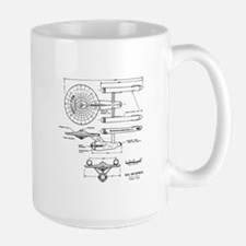 USS Enterprise blueprint - Star Trek Mugs
