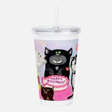 Cute 4 minute Acrylic Double-wall Tumbler