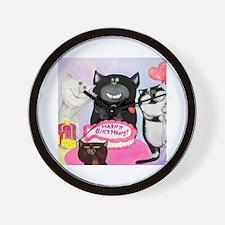Cute Cat comics Wall Clock