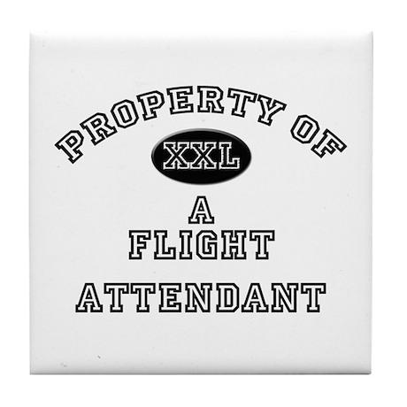Property of a Flight Attendant Tile Coaster