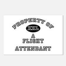 Property of a Flight Attendant Postcards (Package