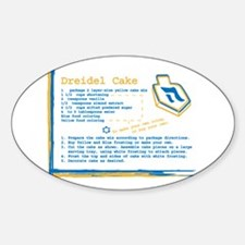 Dreidel Cake Recipe Oval Decal