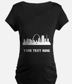 Saint Louis Cityscape Skyline (Custom) Maternity T