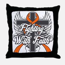 Multiple Sclerosis Faith Throw Pillow