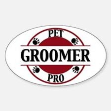 Pet Pro Groomer Oval Decal