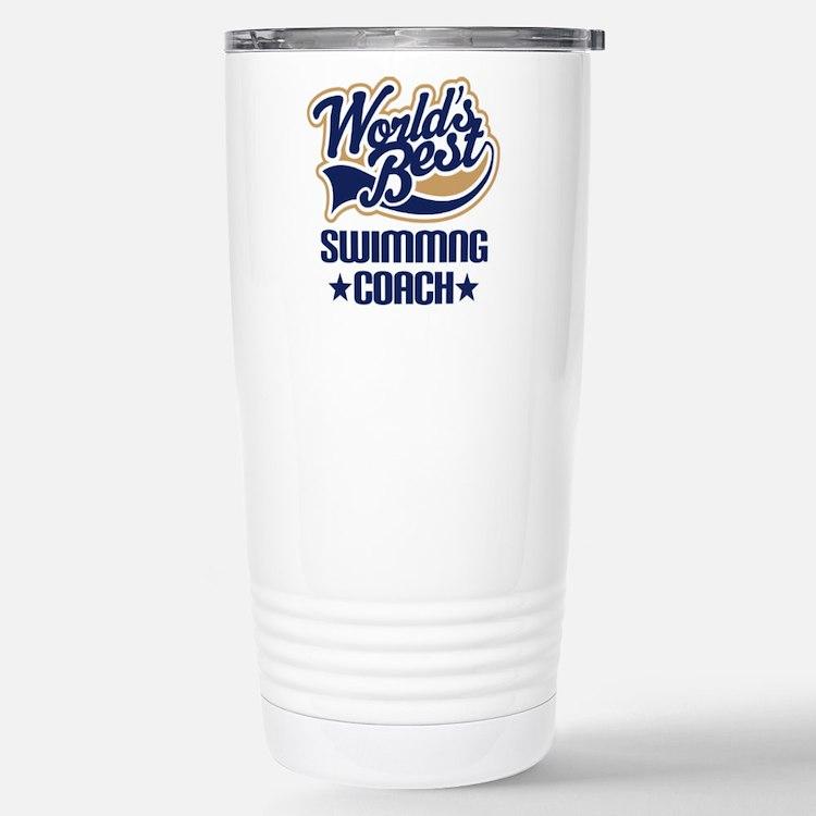 Cute Best swimming coach Travel Mug