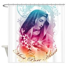 Most Pure Heart of Mary (square) Shower Curtain
