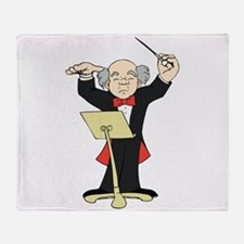 Orchestra Conductor Throw Blanket