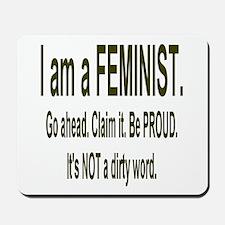 """Proud Feminist"" Mousepad"