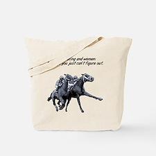 Horse racing and women. Tote Bag