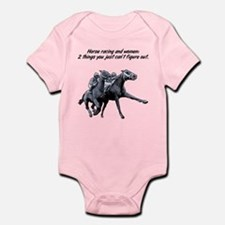 Horse racing and women. Infant Bodysuit