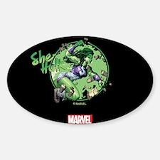 She-Hulk Punching Tumbler Decal
