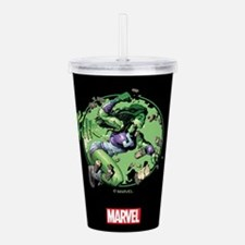 She-Hulk Punching Tumb Acrylic Double-wall Tumbler