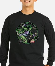She-Hulk Punching Long Sleeve T-Shirt