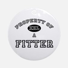 Property of a Fitter Ornament (Round)