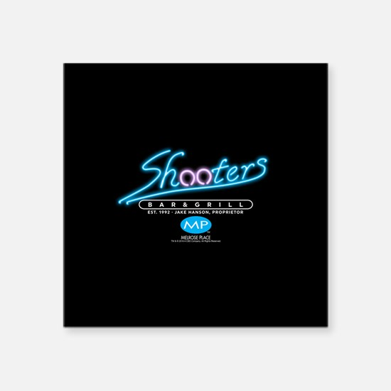 "Melrose Place: Shooters Square Sticker 3"" x 3"""