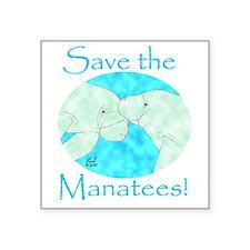 "Cute Marine conservation Square Sticker 3"" x 3"""