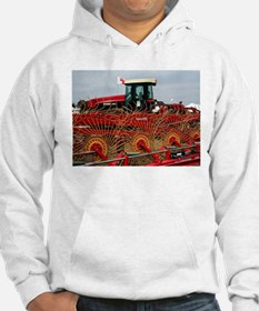 Red hay rake and tractor Hoodie