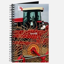 Red hay rake and tractor Journal