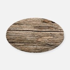 WEATHERED WOOD Oval Car Magnet