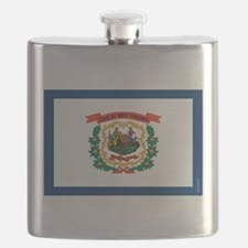 West Virginia State Flag Flask