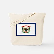 West Virginia State Flag Tote Bag