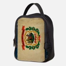 West Virginia VINTAGE Neoprene Lunch Bag
