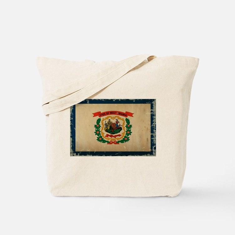 West Virginia State Flag VINTAGE Tote Bag