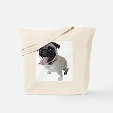 Pug Close Up Photo Tote Bag