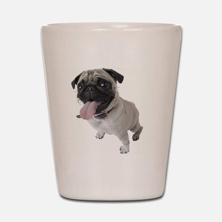 Pug Close Up Photo Shot Glass