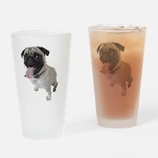 Pug Close Up Photo Drinking Glass