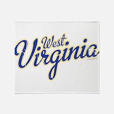 West Virginia Font Throw Blanket